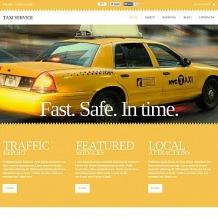 Taxi Flash CMS Template