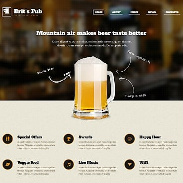 Pub Moto CMS HTML Template