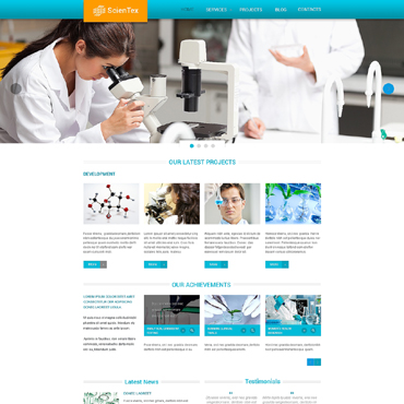 Science Lab Responsive Website Template