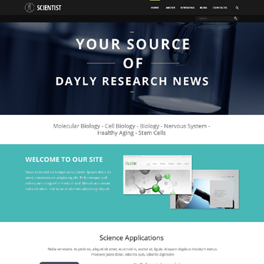 Science Responsive Joomla Template
