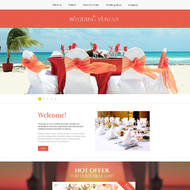 Wedding Planner Responsive Website Template