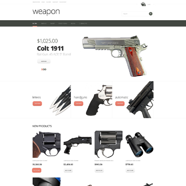 Gun Shop Responsive WooCommerce Theme