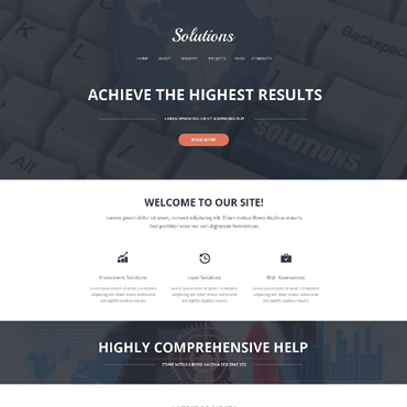 Merchant Services Responsive Website Template