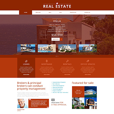 Real Estate Agency Joomla Template #47913