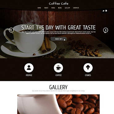 Coffee Shop Responsive Joomla Template