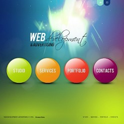 Web Development Flash CMS Template