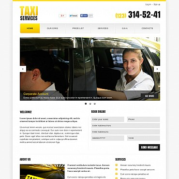 Taxi Flash CMS Template