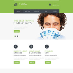 Financial Advisor Responsive Website Template