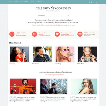 Celebrity Website Responsive Website Template