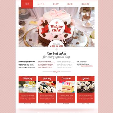 Wedding Cake Responsive Website Template
