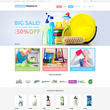 Cleaning Responsive WooCommerce Theme