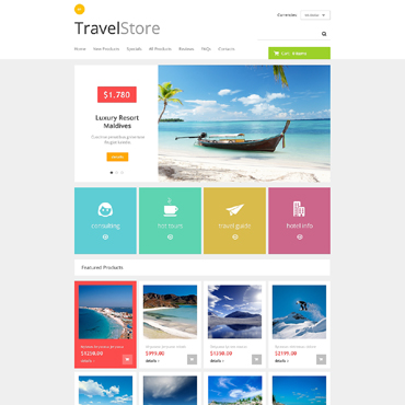 Travel Store ZenCart Template