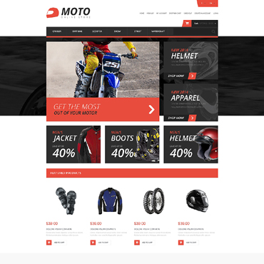 Motor Sports Responsive OpenCart Template