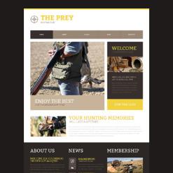Hunting Responsive Website Template