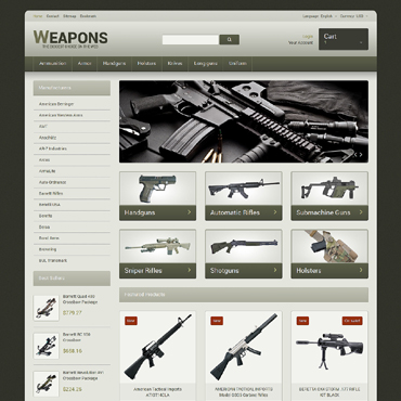 Weapons of All Calibres PrestaShop Theme #48317