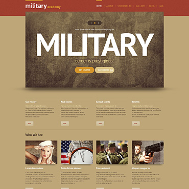 Army Responsive WordPress Theme