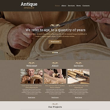 Antique Store Responsive Website Template