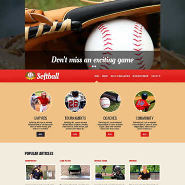 Baseball Responsive Website Template