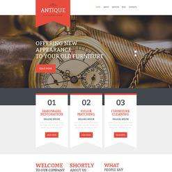 Antique Store Responsive Website Template