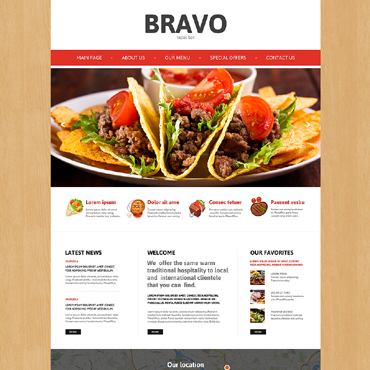 Tapas Restaurant Responsive Website Template