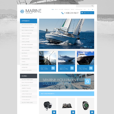 Yachting Responsive OpenCart Template
