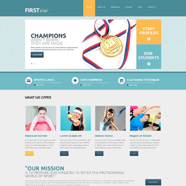 Sport Responsive WordPress Theme