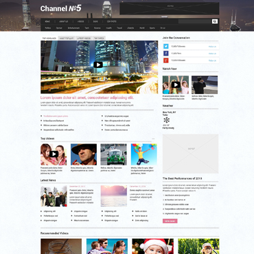 TV Channel Responsive WordPress Theme #48633
