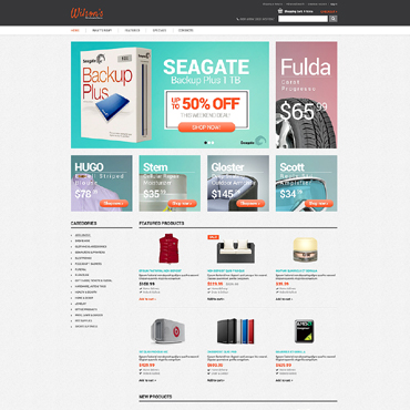 Fashion Store OsCommerce Template