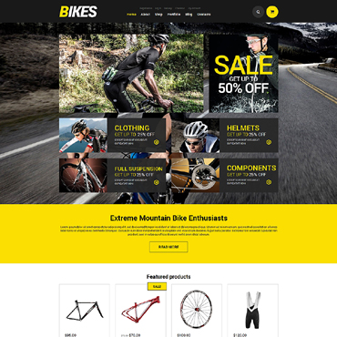 Cycling Responsive Jigoshop Theme