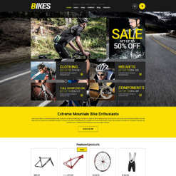 Cycling Responsive Jigoshop Theme