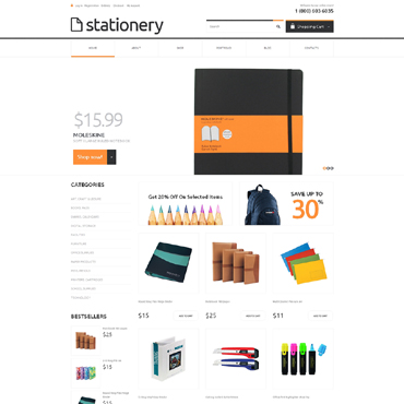 Stationery Responsive Jigoshop Theme