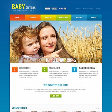 Babysitter Flash CMS Template