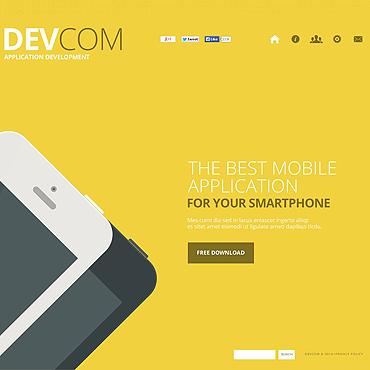 Software Company Flash CMS Template