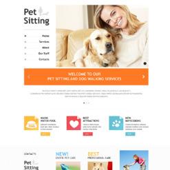 Pet Sitting Responsive Website Template
