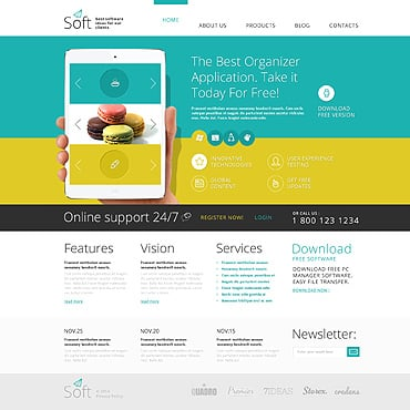 Software Company Responsive Joomla Template