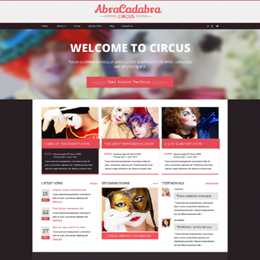 Entertainmnet Responsive Drupal Template