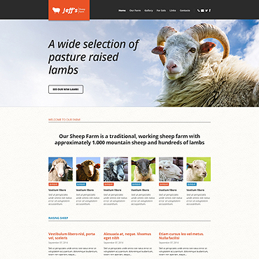 Sheep Farm Responsive Website Template