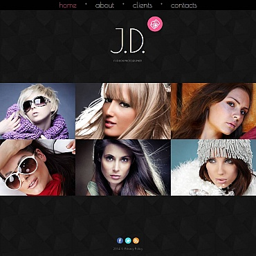 Photo Studio Photo Gallery Template