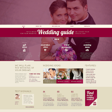 Wedding Planner Responsive WordPress Theme