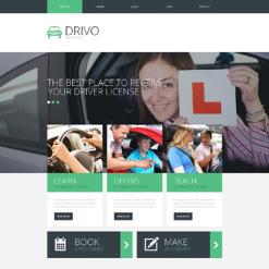 Traffic School Responsive Website Template