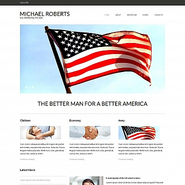 Political Candidate Moto CMS HTML Template