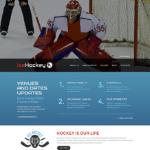 Hockey Responsive Website Template
