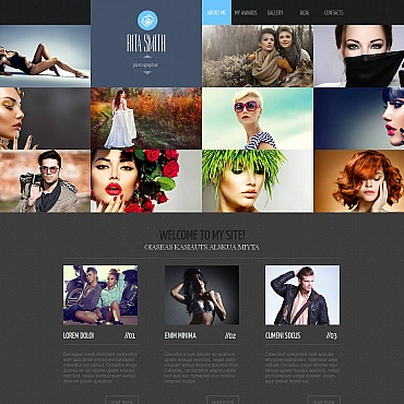 Photographer Portfolio Photo Gallery Template