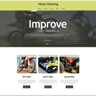 Extreme Sports Responsive Website Template