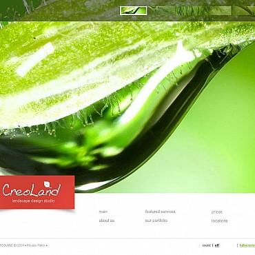 Landscape Design Flash CMS Template