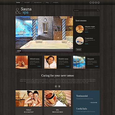 Sauna Responsive WordPress Theme