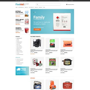 Ambulance ZenCart Template #49253