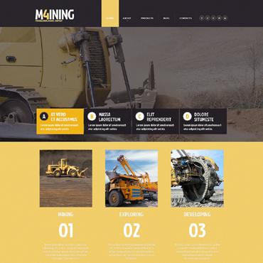 Mining Company Responsive Website Template #49301