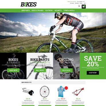 Cycling Responsive Magento Theme