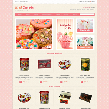 Sweet Shop VirtueMart Template